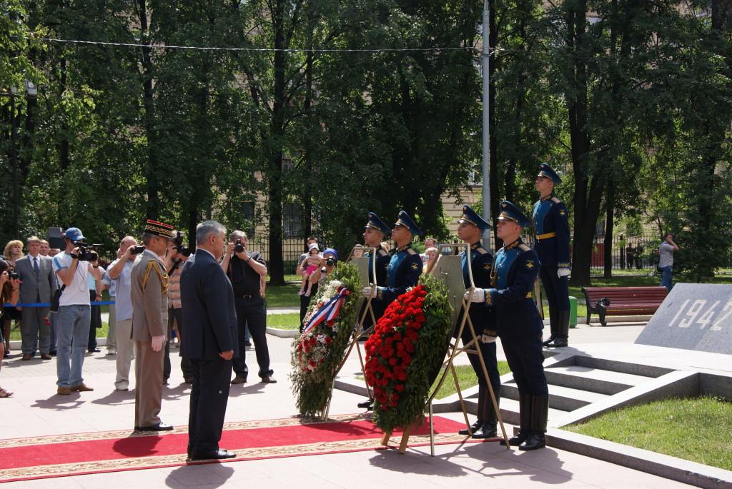 Торжественное мероприятие около памятника Нормандия-Неман, посвященное 70-ой годовщине со дня открытия Второго фронта
